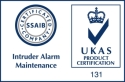 Product certification logo for Intruder Alarm Maintenance